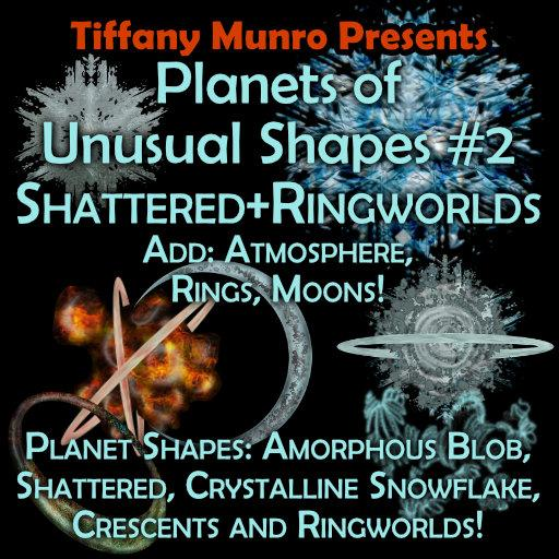 Planets of Unusual Shapes #2: Shattered and Ringworlds