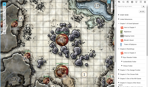 picture relating to Storm King's Thunder Printable Maps called Storm Kings Thunder Roll20 Market: Electronic merchandise for