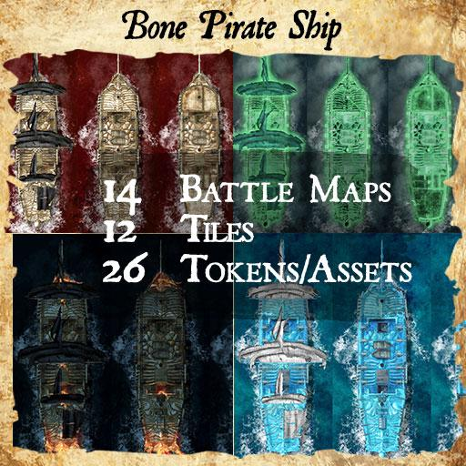 Bone Ship Pirate Ship Maps