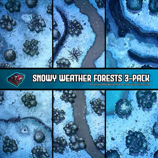Snowy Weather Forests 3-Pack