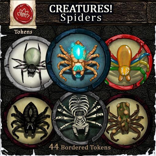 Creatures! Spiders - Big&Weird! - Bordered Tokens