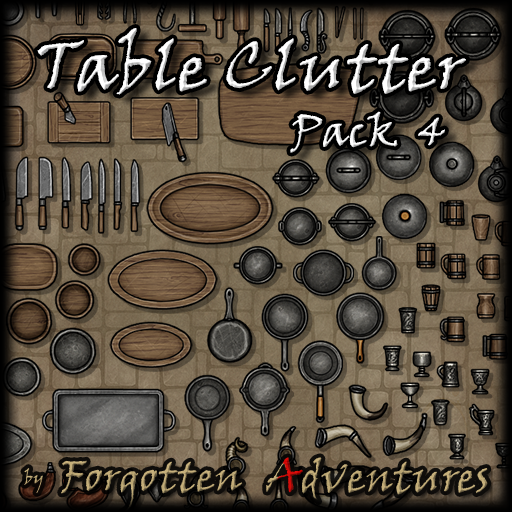 Table Clutter - Pack 4