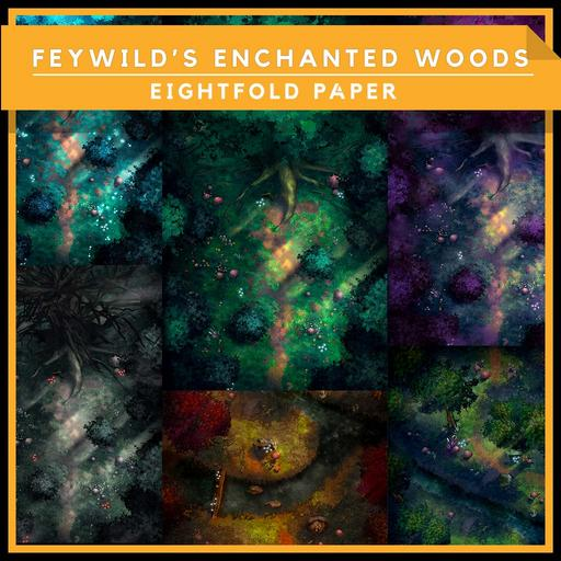 Fey Wild's Enchanted Woods - Battlemap