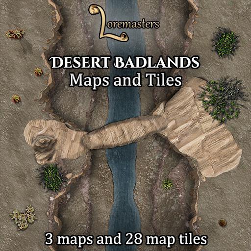 Desert Badlands: Maps and Tiles