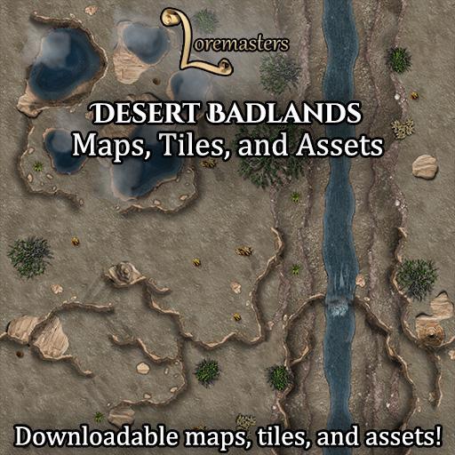 Desert Badlands: Maps, Tiles, and Assets