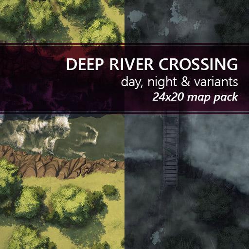 Deep River Crossing Battlemaps
