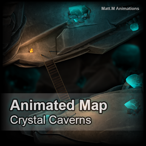 Animated Map - Crystal Caverns