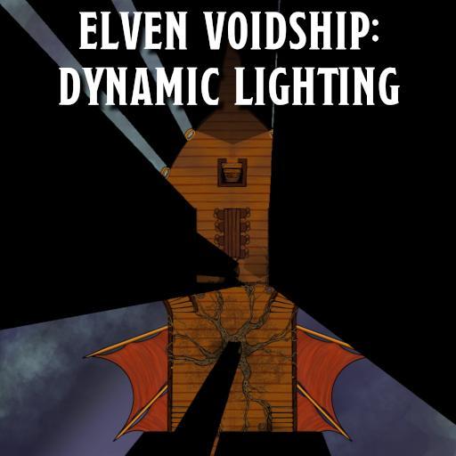 Elven Voidship: Dynamic Lighting