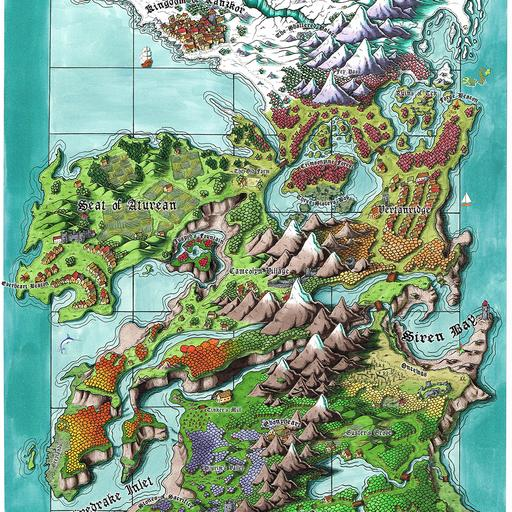 Seat of the Aturean Empire Map