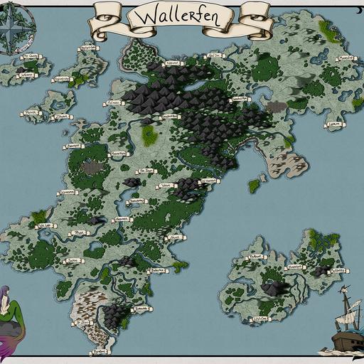 Wallerfen Map
