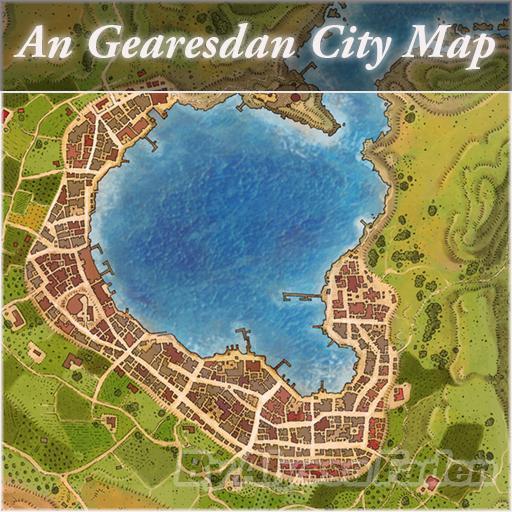 An Gearesdan City Map