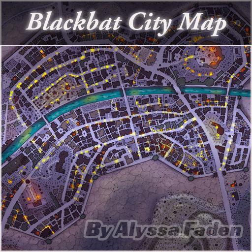 Blackbat City Map