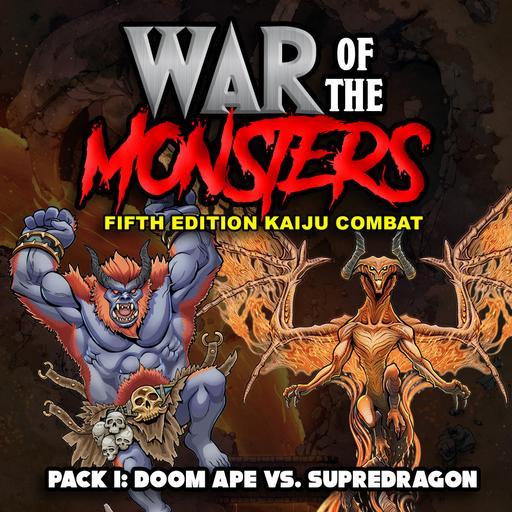 War of the Monsters: Fifth Edition Kaiju Combat Pack 1 - Doom Ape vs. Supredragon