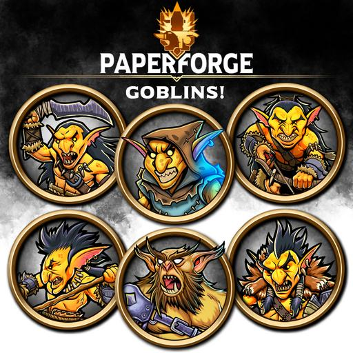 Paper Forge: Goblins! 200 Bordered Tokens