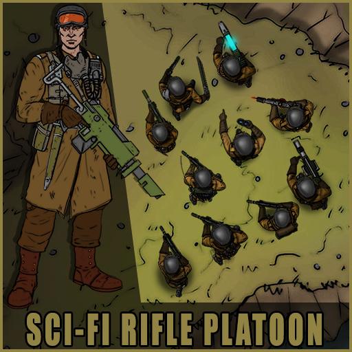 Sci-Fi Rifle Platoon