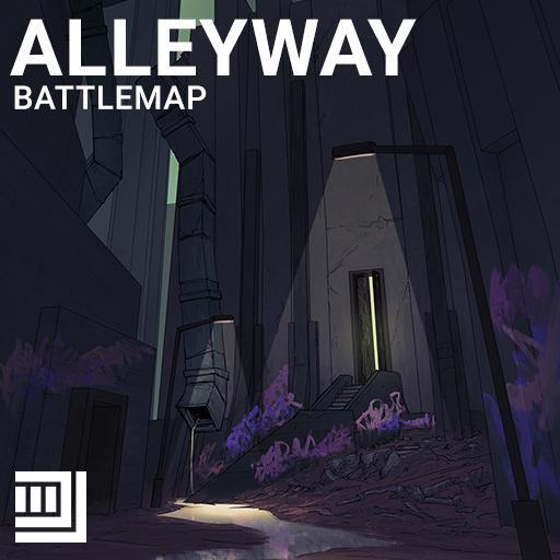 Alleyway Battlemap