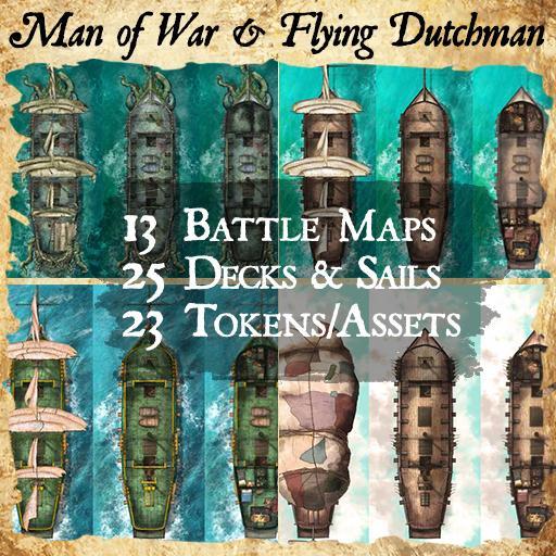 Man of War & Flying Dutchman Ships