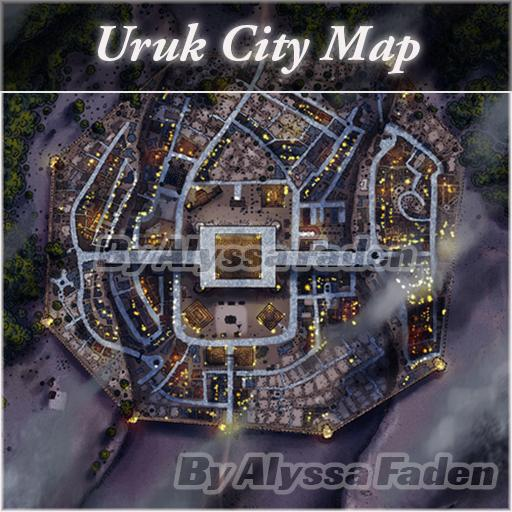 Uruk City Map