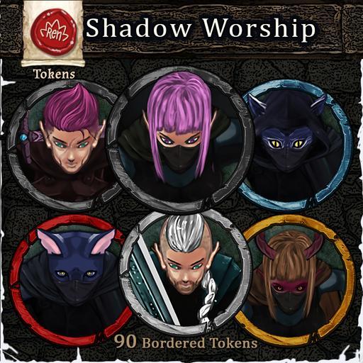 Heroes & Villains! Shadow Worship! - Bordered Tokens