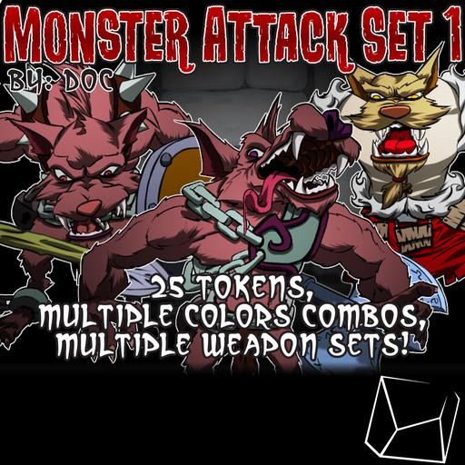 Monster Attack Set 1