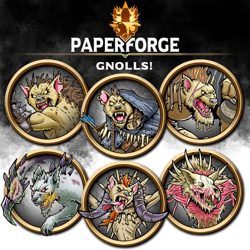 Paper Forge: Gnolls! 200 Tokens