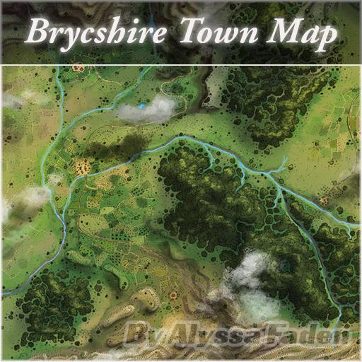 Brycshire Town Map
