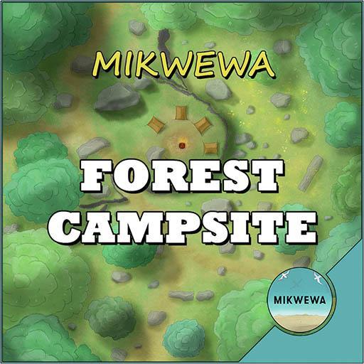 Forest Campsite Battlemaps