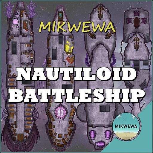 Nautiloid Battleship Battlemaps