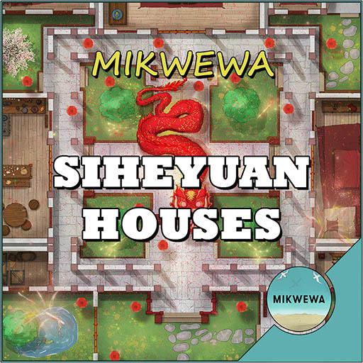 Siheyuan Houses Battlemaps