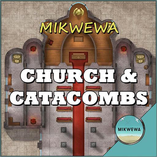Church & Catacombs Battlemaps