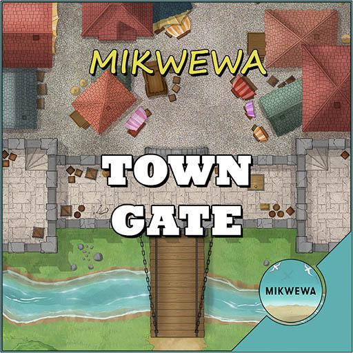 Town Gate Battlemaps