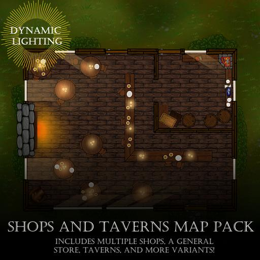 Shops and Taverns Map Pack - Dynamic Lighting