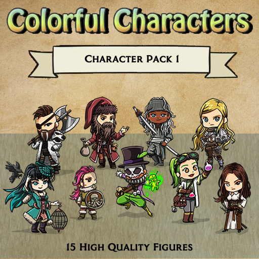 Colorful Characters - Pack 1 [Figures]