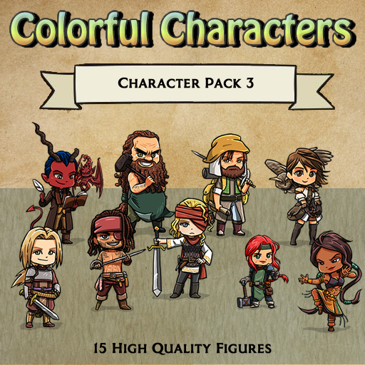 Colorful Characters - Pack 3 [Figures]