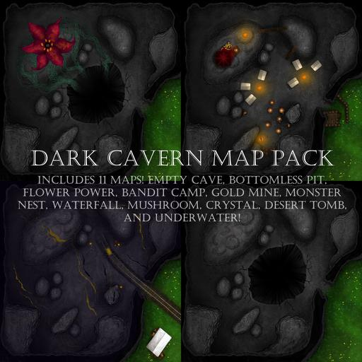 Dark Caverns Map Pack