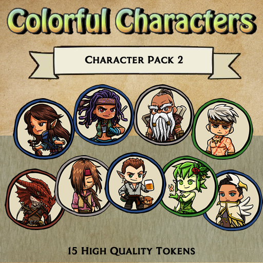 Colorful Characters - Pack 2 [Tokens]