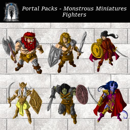 Portal Packs - Monstrous Miniatures - Fighters