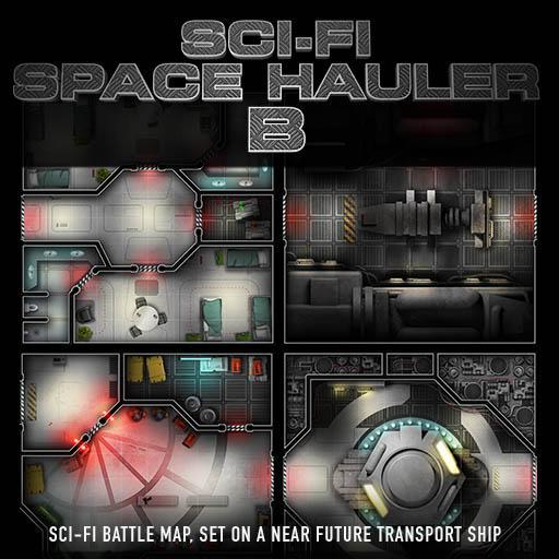 Sci-Fi Space Hauler B