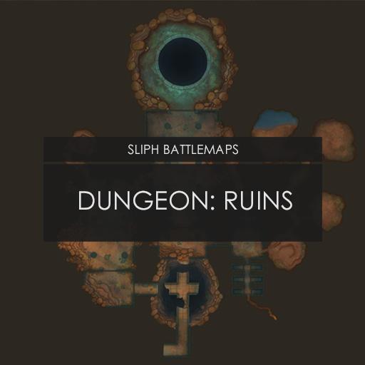 Dungeon: Ruins   Battlemap