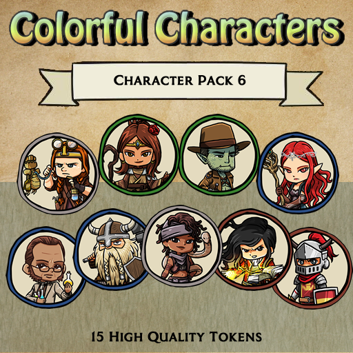 Colorful Characters - Pack 6 [Tokens]