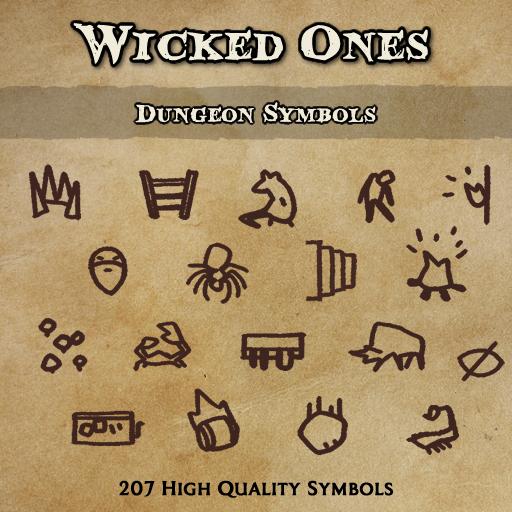 Wicked Ones - Dungeon Symbols