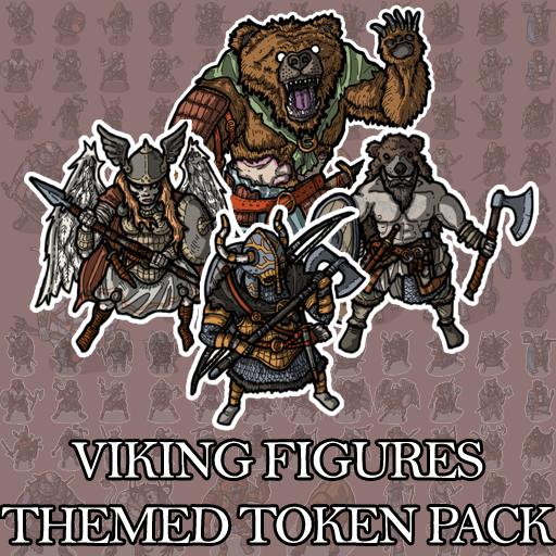 Viking Figures - Themed Token Pack