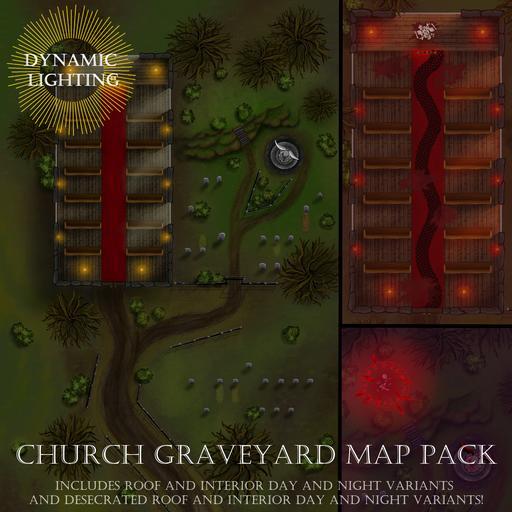 Church Graveyard Map Pack - Dynamic Lighting