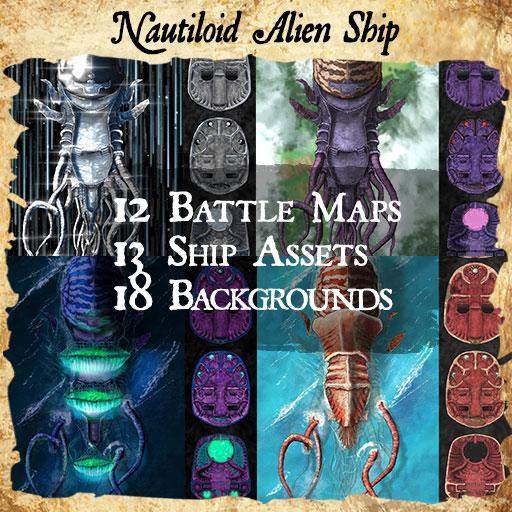 Nautiloid Alien Ship