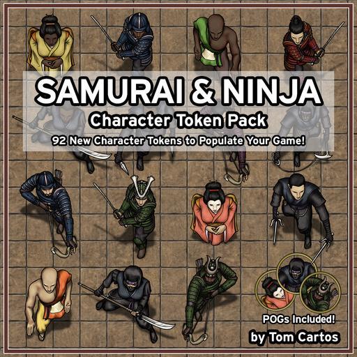 Samurai & Ninja Character Tokens Pack