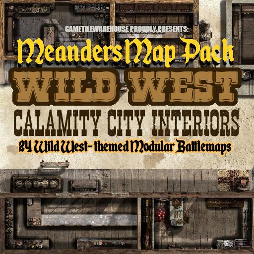 Meanders Map Pack WILD WEST CITY INTERIOR