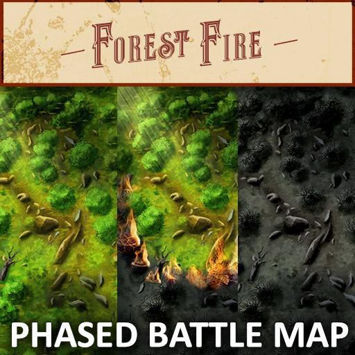 Forest Fire Phased Battle Map