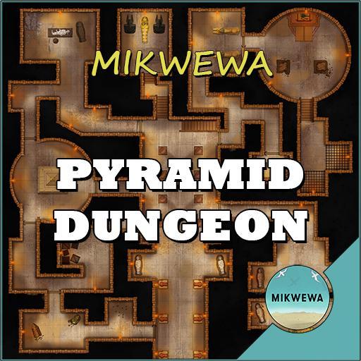 Pyramid Dungeon Battlemaps