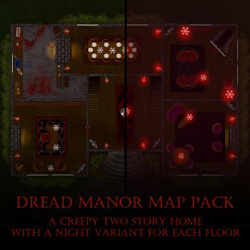 Dread Manor Map Pack