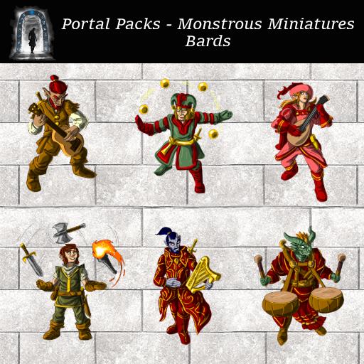 Portal Packs - Monstrous Miniatures - Bards